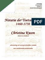 Notatie der Toetsenkunst 1460-1650