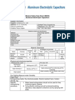 Material Safety Data Sheet Capasitor