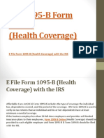 e file form 1095-B (Health Coverage) with the IRS