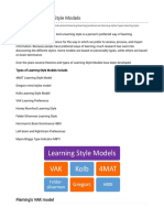 Types of Learning Style Models