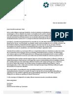 2019-12-10 Brev Til Ministeren Om Studieadministrative Systemer December 2019 F