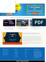 Python Django and MySQL Project on Movie Ticket Booking System Screens