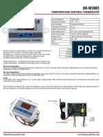 Thermostat XH W3001