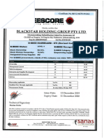 Certificate & Annexure A Blackstar Holding Group Pty Ltd (BSG) 10275-191212)
