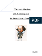 A Level Shakespeare Extract Booklet