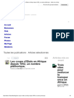 Les Coups d'Etats en Afrique Depuis 1952, Un Nombre Pléthorique