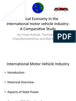 Political Economy in the Motor Vehicle Industry