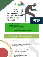 Taller Métodos de Evaluación Ergonómica Para El Análisis de Puesto de Trabajo