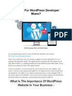 WordPress Developer Miami - WordPress Development Service by Best Website Designer