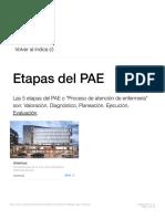 Etapas del PAE (Proceso de Enfermería)