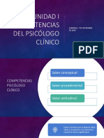 Competencias del Psicologo Clinico