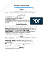 Geometry Postulates Theorems