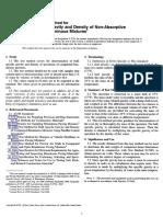 ASTM D 2726 Bitumen Density Code