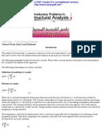 Deflections - Work-Energy Methods