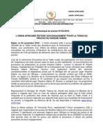 Communiqué Union africaine Proces Hissene Habre Table Ronde 24-11-10