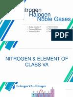 Halogen, Nitrogen, and Noble Gases (Group 4)