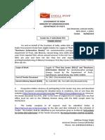 Post Office Tender Document