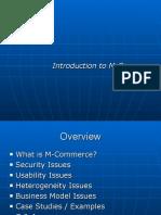 Introduction M Commerce
