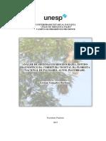 Análise de sistemas em Biogeografia:estudo diagnóstico da cobertura vegetal da Floresta Nacional de Palmares, Altos Piauí /Brasil