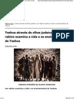 Yeshua Através de Olhos Judaicos_ Um Rabino Examina a Vida e Os Ensinamentos de Yeshua __ Juda