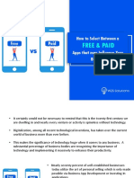 Know how to select between a Free and Paid Apps that may Influence your Business