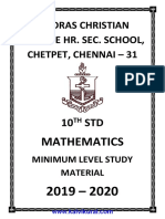Minimum Level Material Em