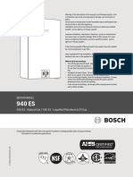 Bosch Therm 940ES Installation Manual