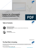 Lessons for a Successful Lifetime Investment Plan