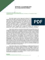 COMPARTIR LA VULNERABILIDAD EN LA RELACIÓN DE PAREJA.Mireia Simó