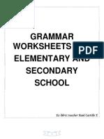 272689449 Grammar WorkSheets