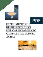 Experimento de Representación Del Calentamiento Global (1)