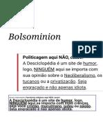 Bolsominion - Desciclopédia