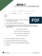 Cuestionario ADCA-1