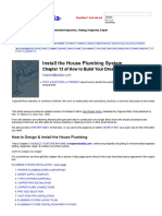 Install the House Plumbing System