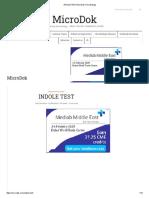 INDOLE TEST MicroDok microbiology