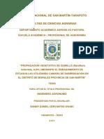 UNIVERSIDAD NACIONAL DE SAN MARTÍN-TARAPOTO FACULTAD DE CIENCIAS AGRARIAS