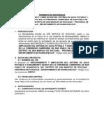 TDR DE SANEAMIENTO - Huanquilca