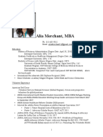 Alia Merchant CV
