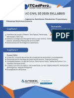 Syllabus Civil 3d 2020