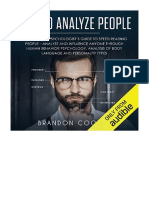[2018] How to Analyze People by Brandon Cooper |  The Complete Psychologist's Guide to Speed Reading People - Analyze and Influence Anyone Through Human Behavior Psychology, Analysis of Body Language and Personality Types | Brandon Cooper
