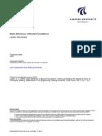 Aalborg Universitet. Static Behaviour of Bucket Foundations Larsen, Kim Andre. Publication Date_ 2008