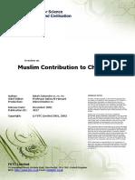 Moslem Contribution to Chemistry