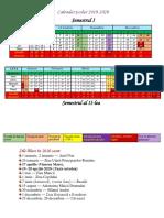 Calendar an Scolar 2019 2020