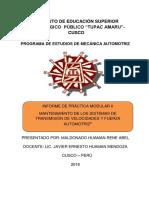 Informe , Modulo II Maldonado 2018