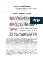 13289383 Bibliografia Kantian Romaneasc us