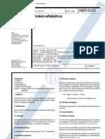 NBR 6033 Ordem alfabetica