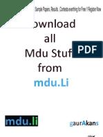 Mdu IT Full Syllabus
