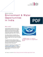 Environment and Water Sector in India