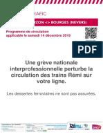Info Trafic Axe B_ Tours-Vierzon-bourges (Nevers) Du 14 12 19