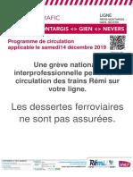 Info Trafic Paris Nevers 14 Decembre 2019